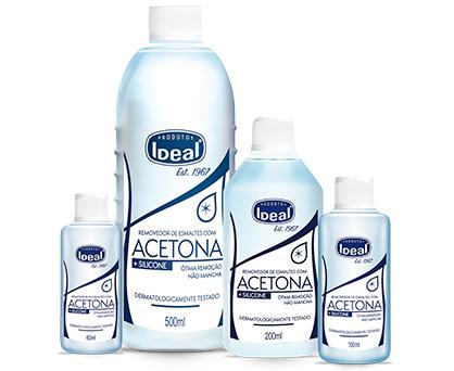 Removedor de Esmaltes com Acetona + Silicone
